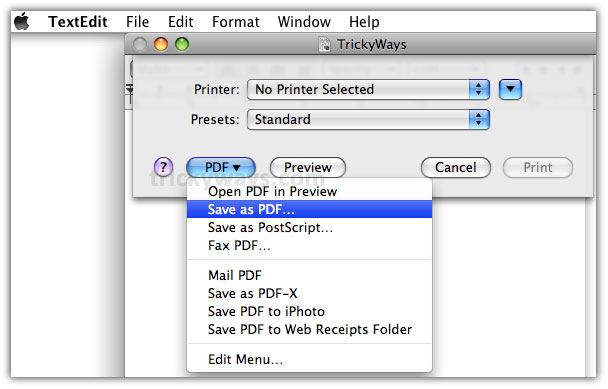 create pdf files in mac