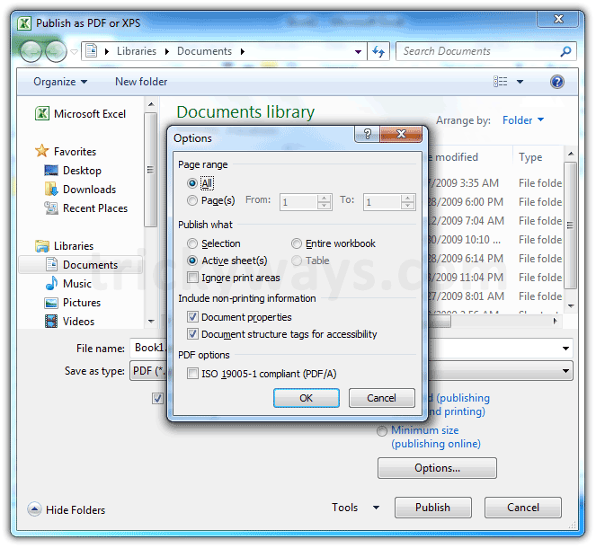 Save Excel File As PDF