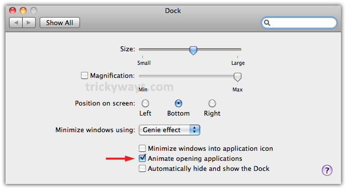 How to Disable/Enable Bounce Effect of Dock Icons on Mac