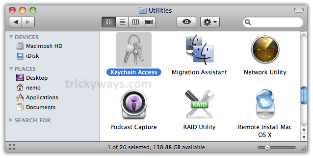 recover os x keychain