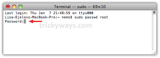 How to Change Root Password on Mac OS 2092a9ea3