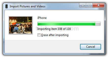 Transfer iPhone Pictures to PC Windows 7 - Windows