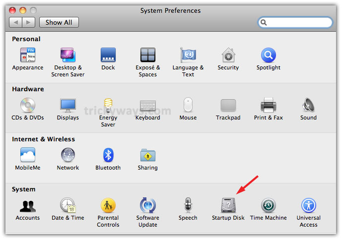 Change Mac Startup Disk to Boot into Mac OS X after