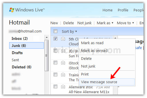 how to translate an email in hotmail