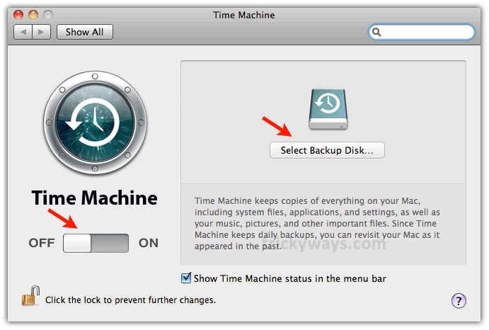 time machine setup
