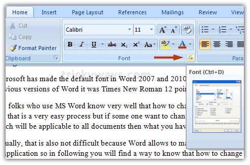 change default font in mac word 2010
