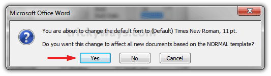 change the default font in word 2007