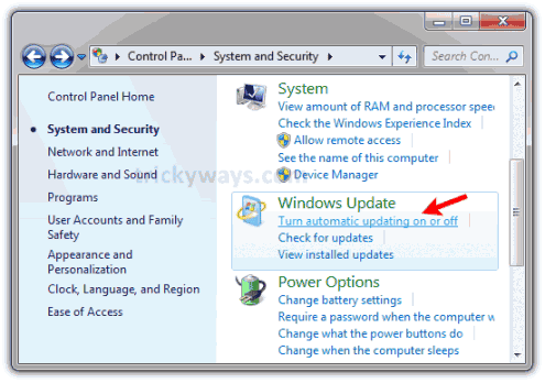 How to Turn Off Windows 7 Automatic Updates | MS Windows