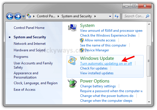 How to Turn Off Windows 7 Automatic Updates \u2013 Windows, Windows 7