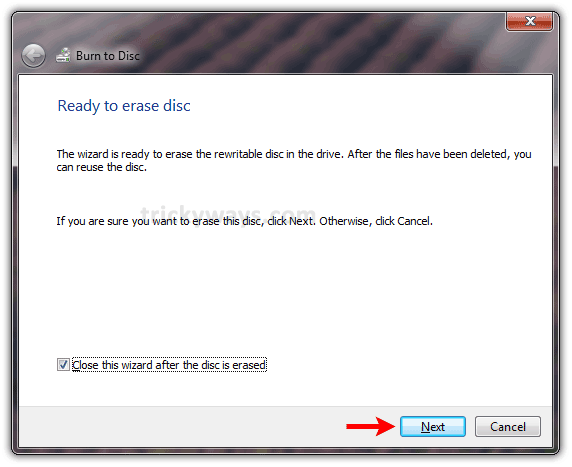 Erase CD or DVD Windows 7 | Erase Rewritable CD or DVD | MS Windows