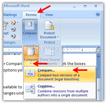 Compare Word Documents, Compare Side by Side, Highlight