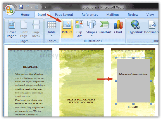 how to do a brochure on word create brochure in word 2007