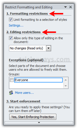 how do you turn off read only in word 2010