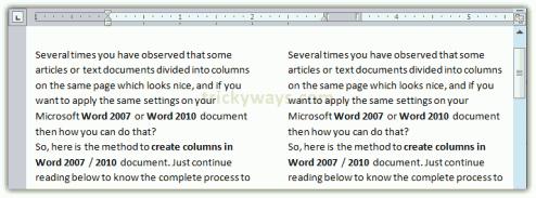 2 columns word