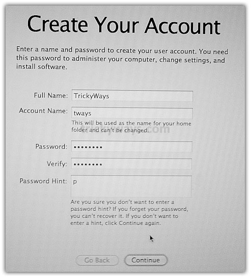 Create mac account