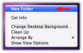 Create a new folder mac