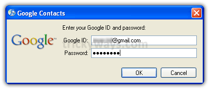 Gmail ID and password