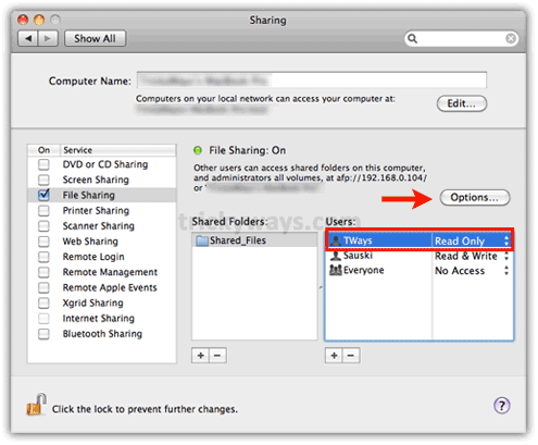 Mac SMB Windows settings