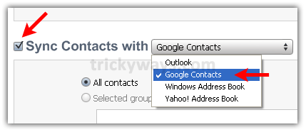 Sync contacts with Google