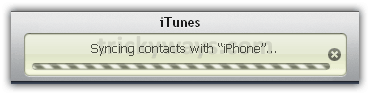 iTunes syncing contacts