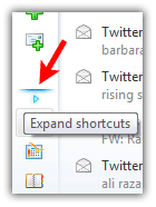 Expand shortcut windows live mail