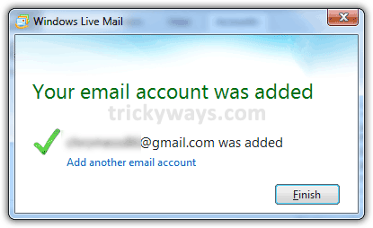 email-account-added-windows-live-mail-2011