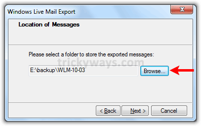 location-to-export-messages