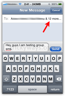 group message iphone send sms on iphone send sms to on iphone 2198