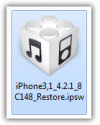 Select iOS firmware file