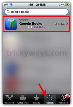App Store Google Books