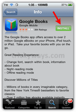Install Googel Books