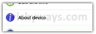 About Device Galaxy Tab