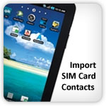 import sim card contact Galaxy Tab
