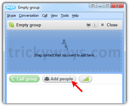 Add People to group in Skype