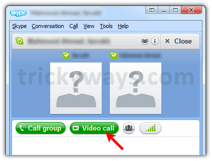Make Group video call on Skype