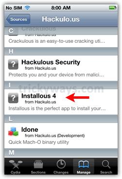 Install Installous app
