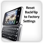 Reset Motorola BackFlip