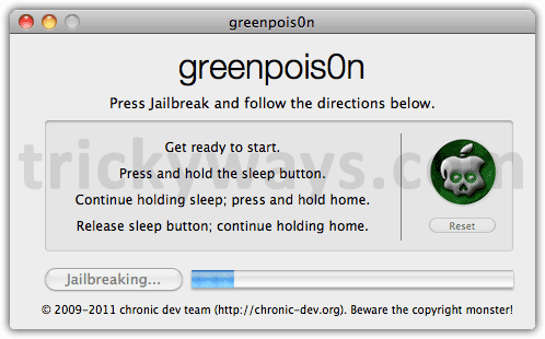 Jailbreak iOS 4.2.1 iPhone 4 Untethered by means of  GreenPois0n | iPhone