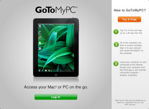 GoToMyPC App for iPad to Access Mac or PC Remotely | Downloads