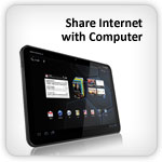 how to connect tablet to internet with usb