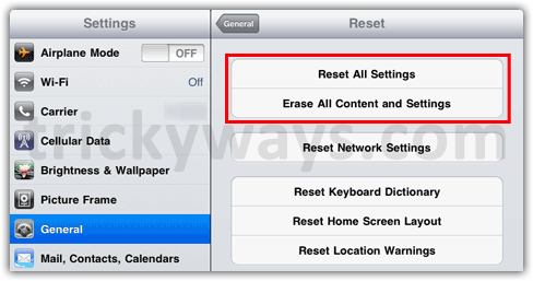How to Reset iPad 2 to Factory Settings | iPad