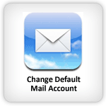 Change default mail account iPhone