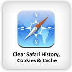 Clear Safari history, Cookies and Cache