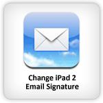 iPad 2 email signature