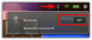 Playbook Bluetooth turn On Off