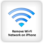 Remove WiFi network on iPhone