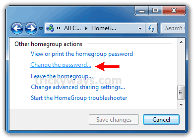 How to View/Change HomeGroup Password in Windows 7 | Windows 7