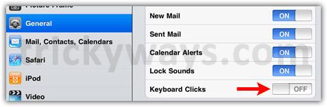 iPad 2 keyboard clicks