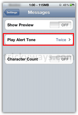 alert tone for iphone