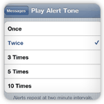Set iPhone Messages Alerts to Repeat at Two Minutes Intervals | iPhone